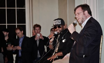 Jermaine Dupri speaking at exposition in Atlanta - it's good to be Jermaine Dupri!